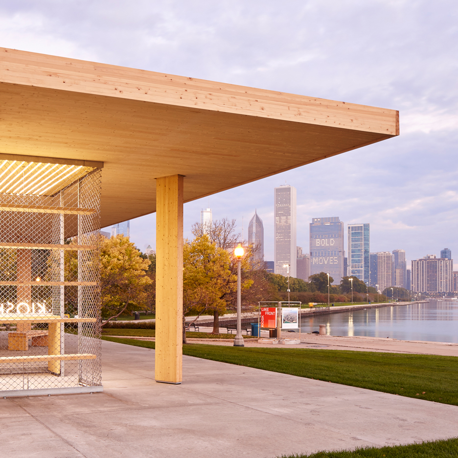 Lakefront Kiosk by Ultramoderne