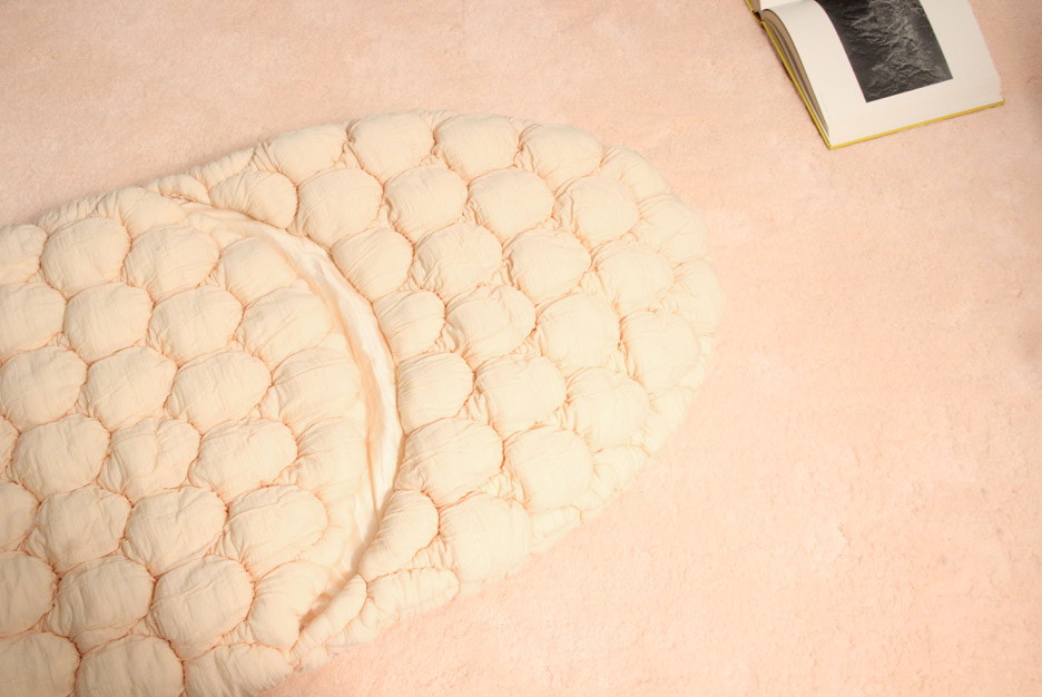 Buro Belén's quilted Laying Bag changes colour over time