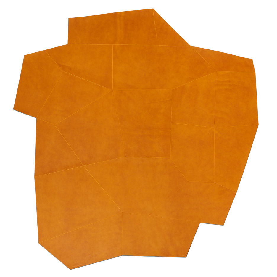 Claesson Koivisto Rune patterns leather rugs to look like fields from above