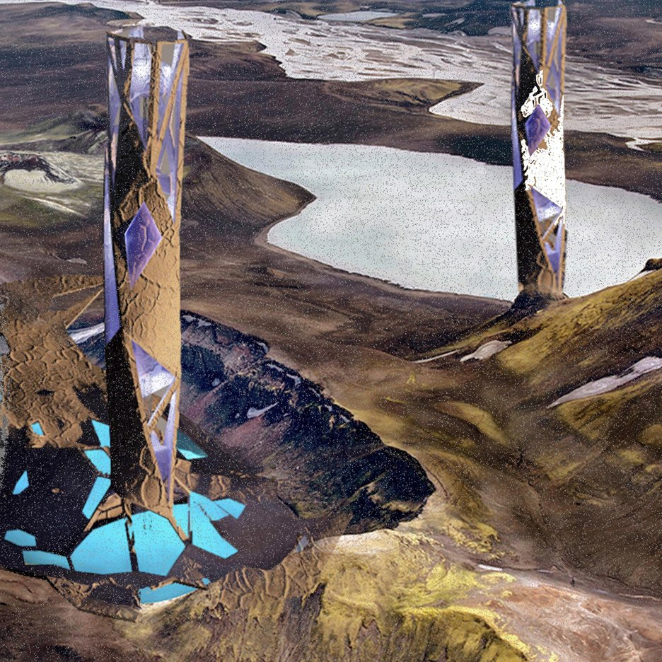 architect proposes mars utopia towers to terraform red planet into breathable environment. Black Bedroom Furniture Sets. Home Design Ideas