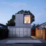 Perforated shutters animate facade of Melbourne house by Jackson Clements Burrows