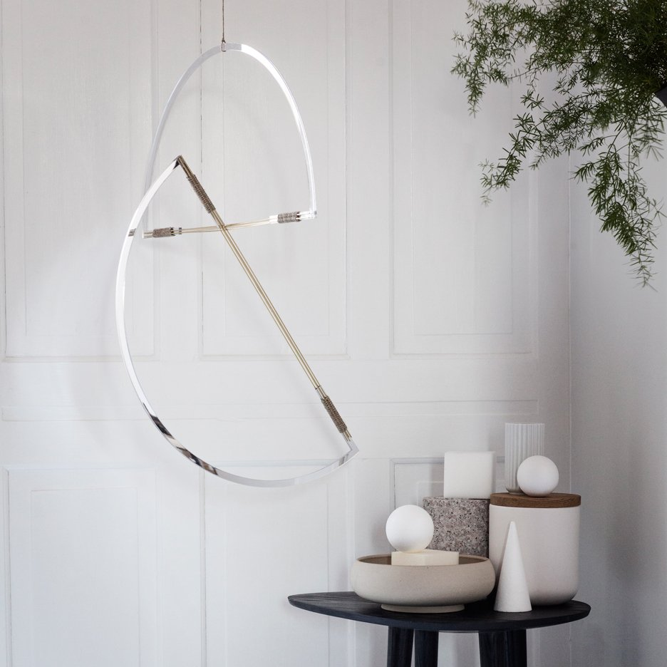 Simple reflective shapes form Elkeland's Mirror Mobiles