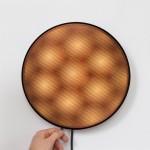 David Derksen's Moiré lights rotate to create moving patterns