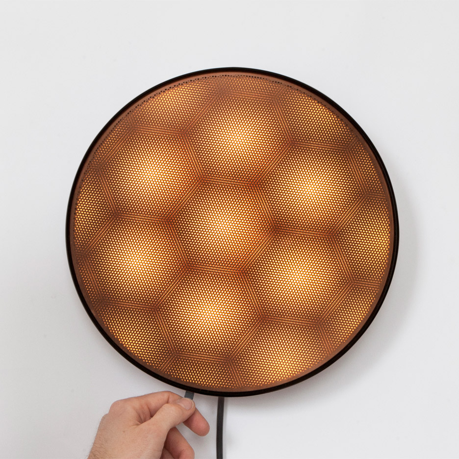 David Derksen's Moiré lights rotate to create moving patterns