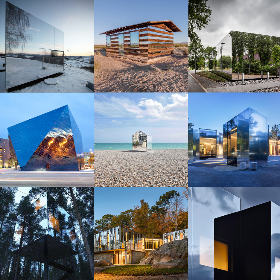 Mirrored buildings cast illusions on Dezeen's new Pinterest board