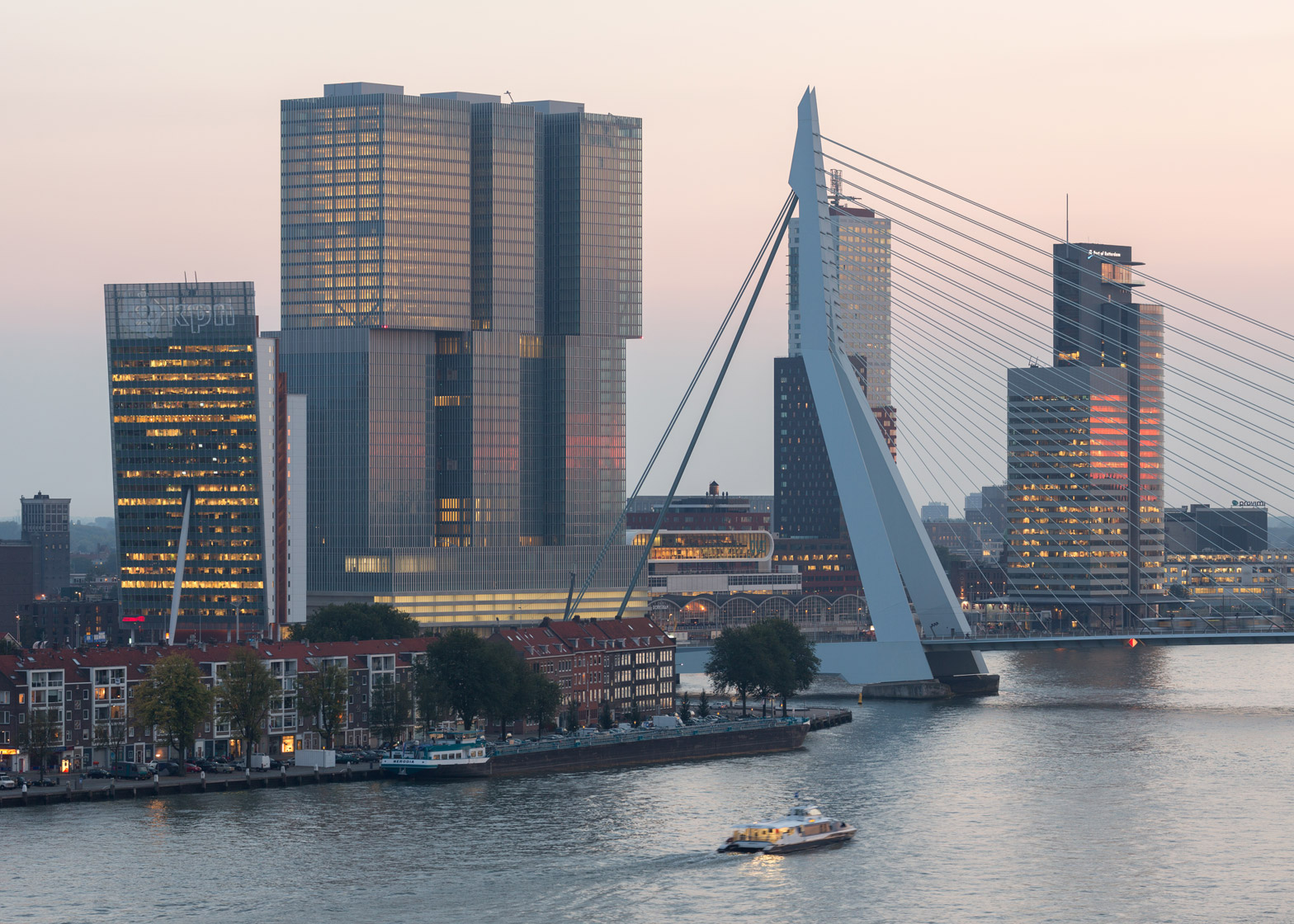 """OMA's De Rotterdam """"vertical city"""" complex opened in 2013. Photograph by Ossip van Duivenbode"""
