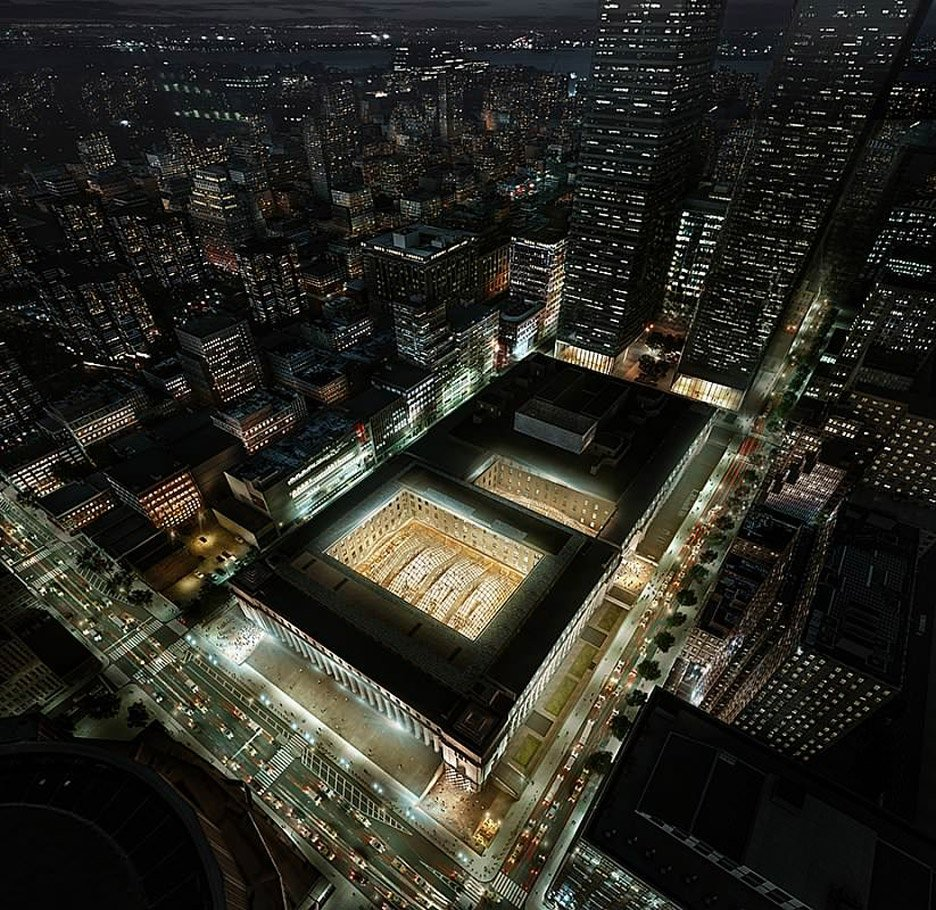 SOM reveals new images of Penn Station