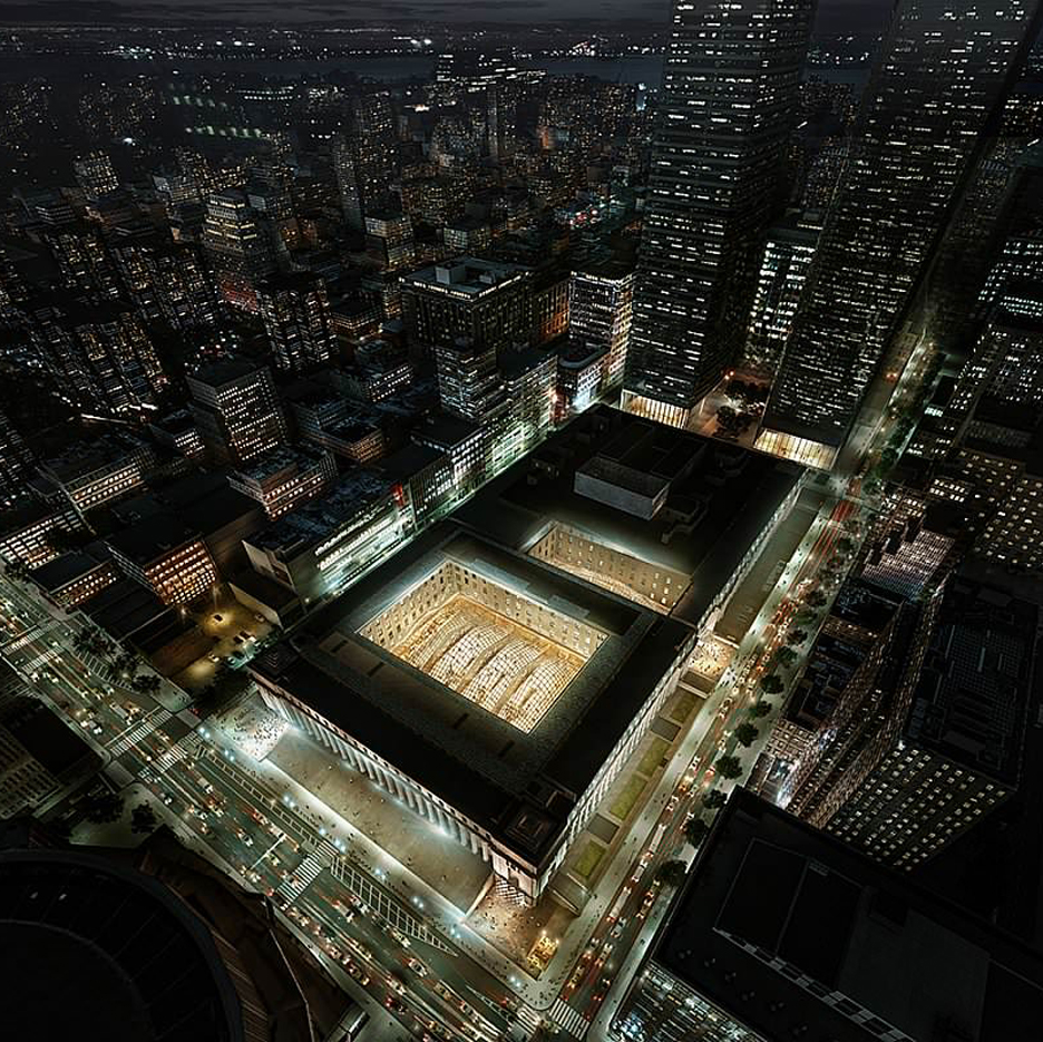 SOM reveals images of grand hall for New York's Penn Station
