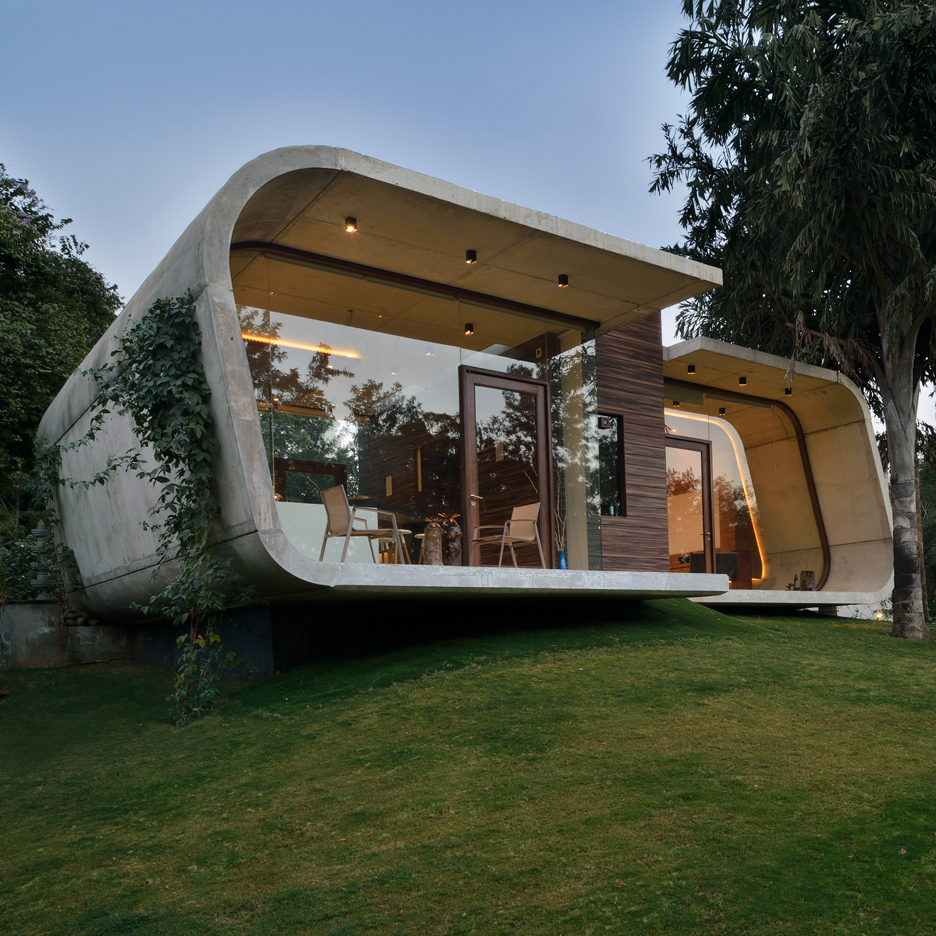Amazing Indian Pool House By 42mm Architecture Has A Concrete Frame