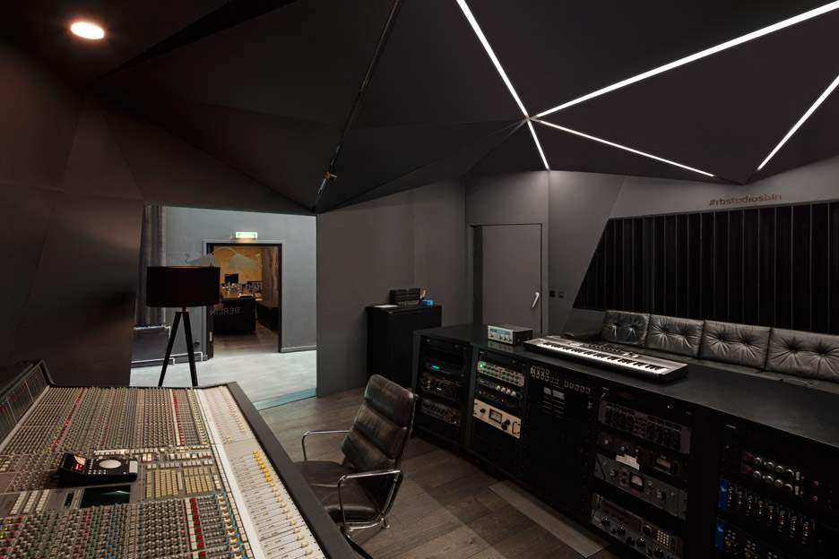 Optimist design creates red bull music studio inside for Interior design studio berlin