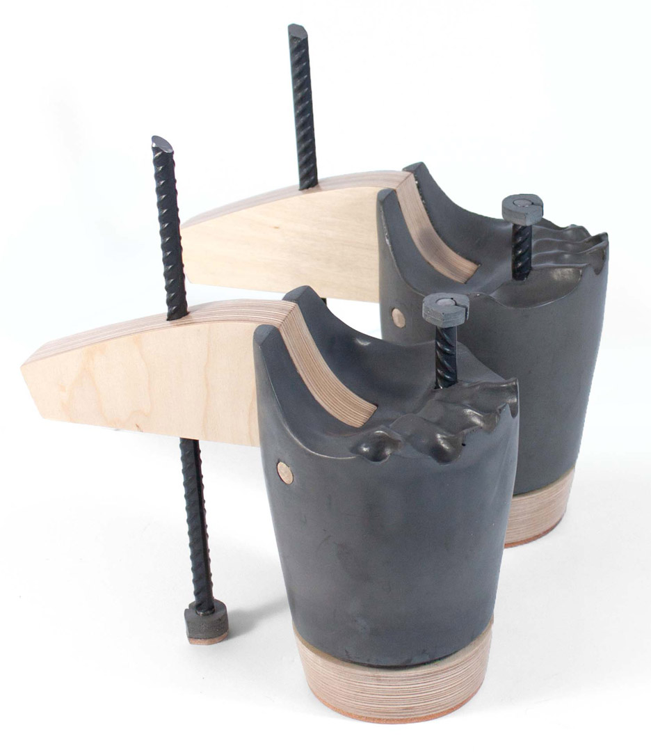 Sculptural footwear by Sandra Plantos