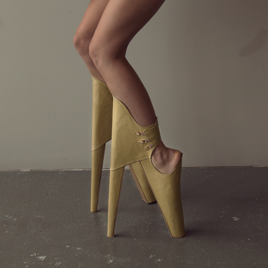 Scary Beautiful high-heeled shoes by Leanie van der Vyver