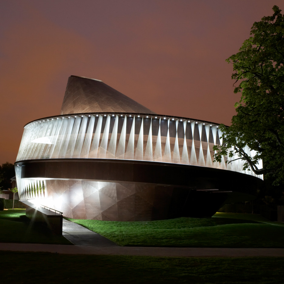 "Olafur Eliasson and Kjetil Thorsen's Serpentine Gallery Pavilion ""looked like a spinning top"""