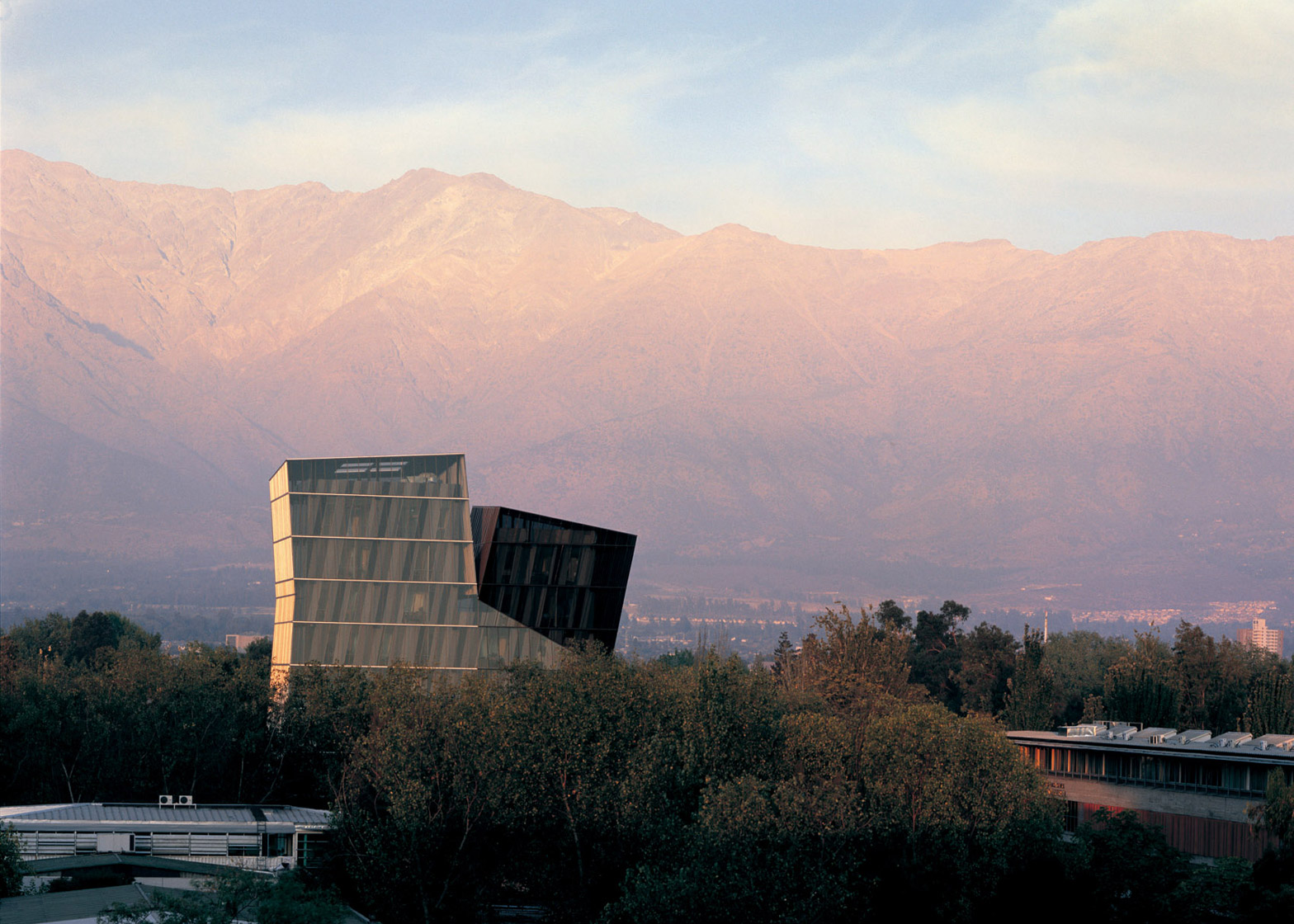 Siamese Towers at the San Joaquín Campus, Universidad Católica de Chile, Santiago, 2005