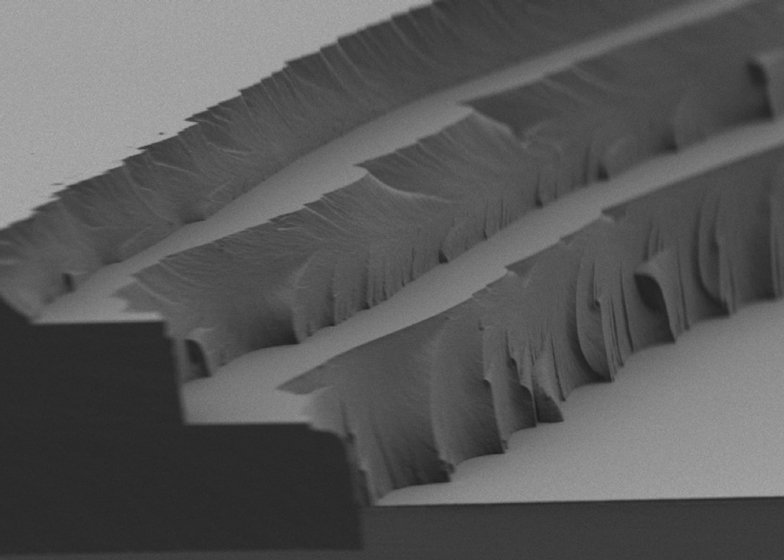 Microscopic image of MIT's polymer designed to store solar energy