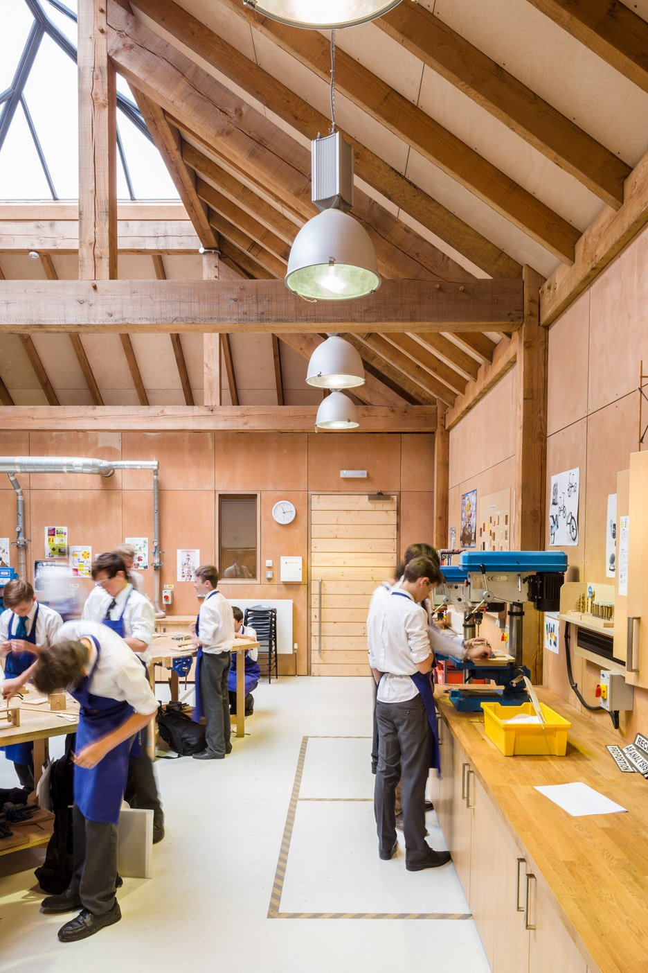 Design and Technology block at St James's School by Squire and Partners architects.