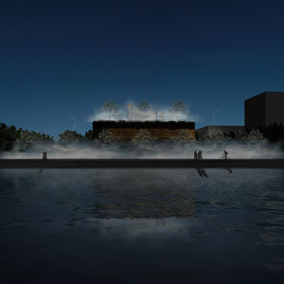 Designs revealed for sunken pavilion on MVRDV's Almere expo site