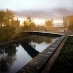 Moxon Architects unveils plans for slender footbridge in London's King Cross