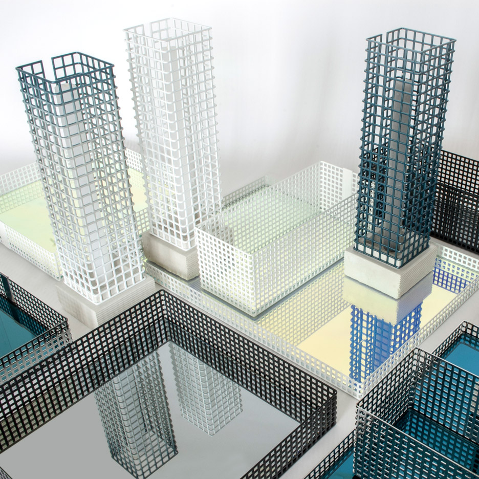"David Derksen creates an ""abstract cityscape"" with Table Architecture products"