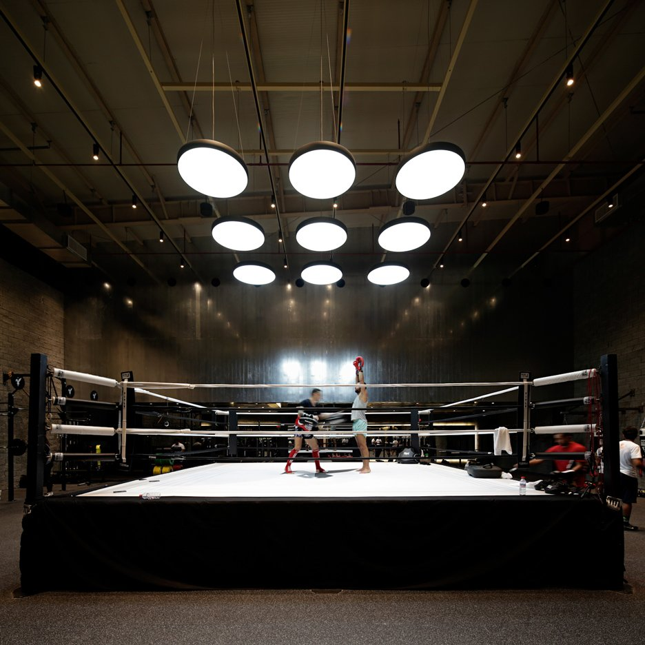 Lab100 design studio creates kuwait boxing gym