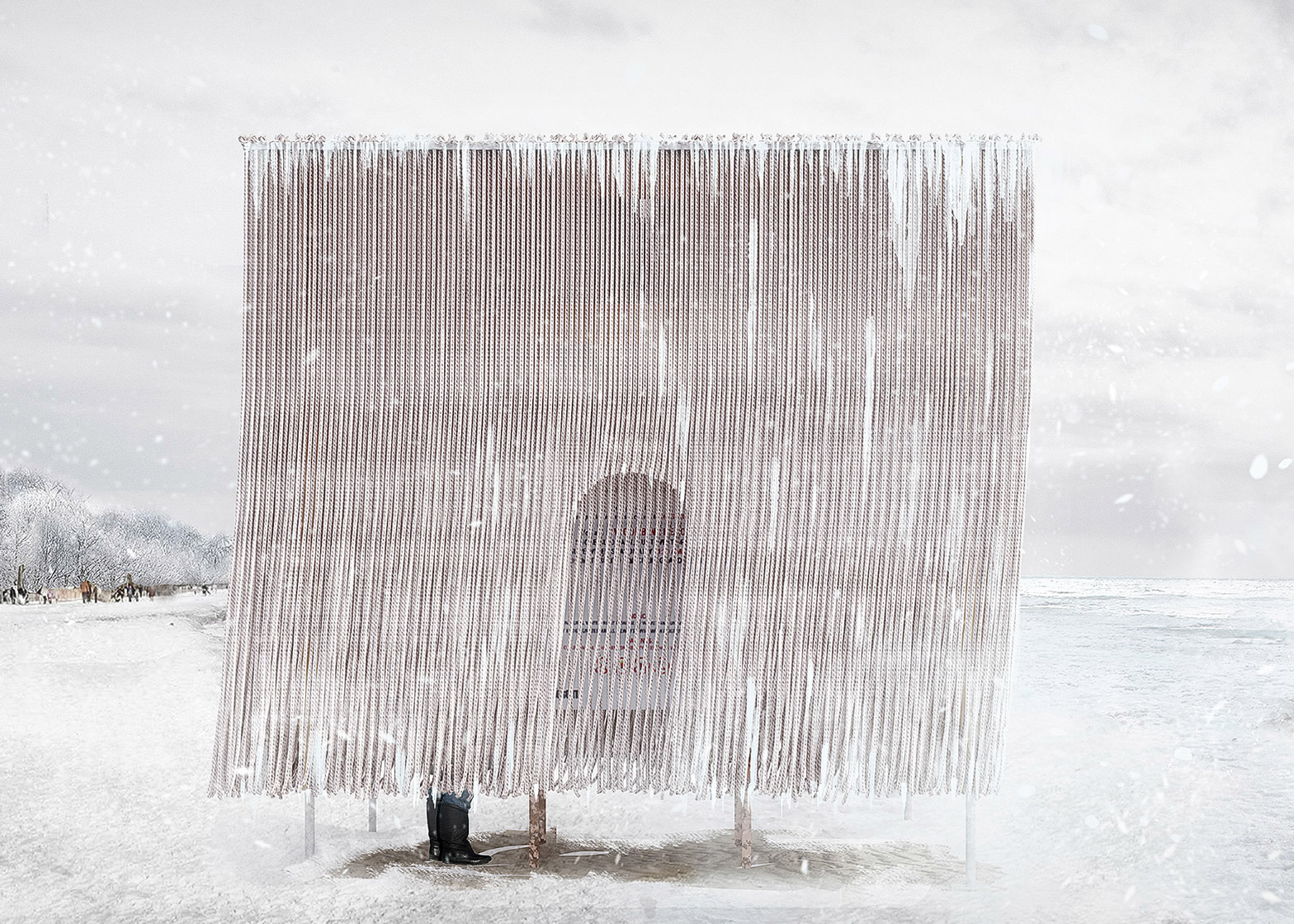 Floating Ropes by Elodie Doukhan and Nicolas Mussche of MUDO