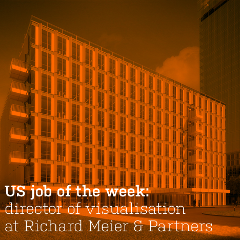 US job of the week: designer and director of visualisation at Richard Meier & Partners