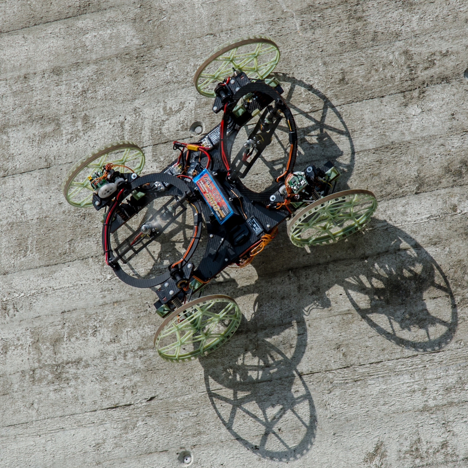 Disney's VertiGo robot uses propellers to climb up walls