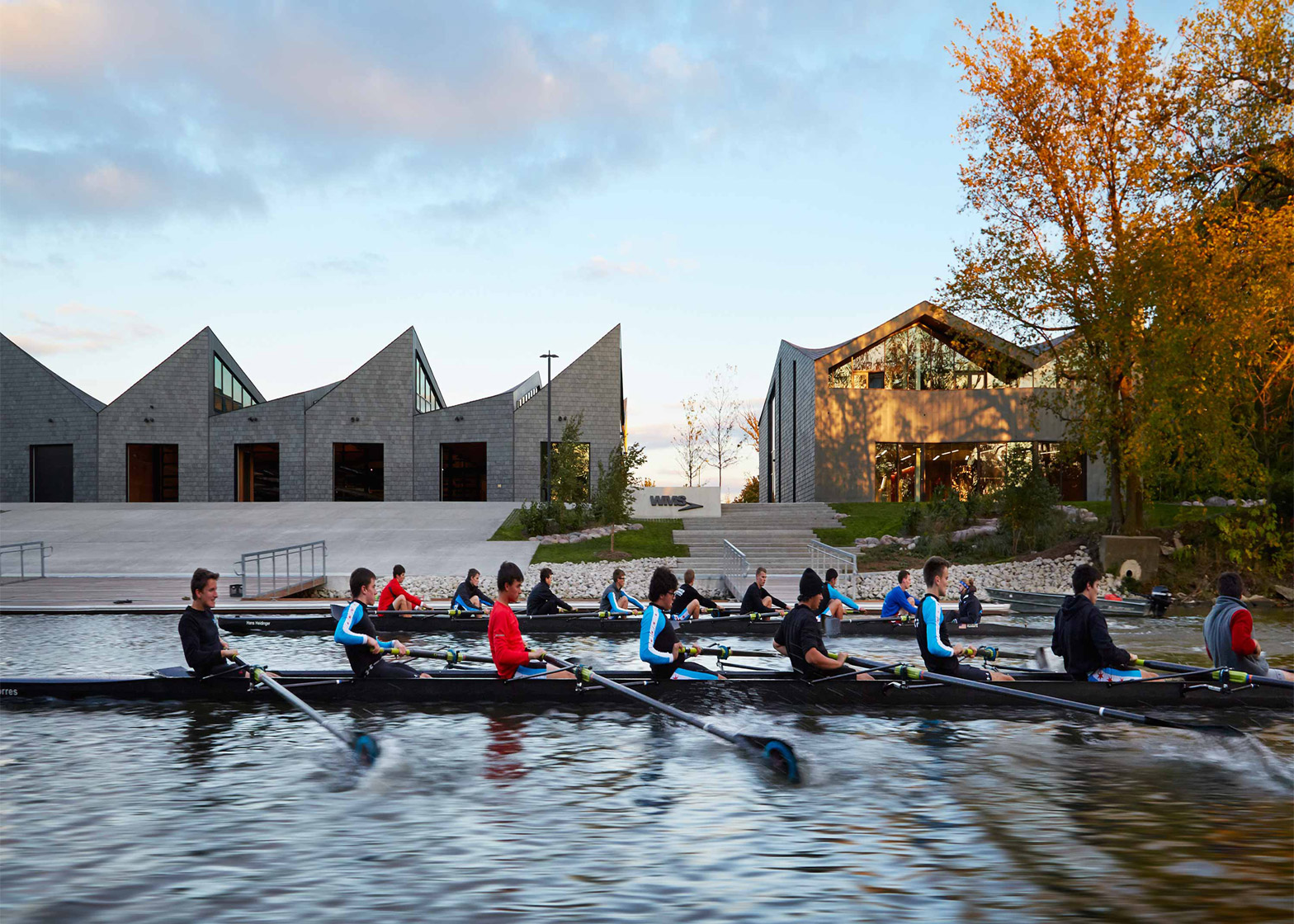 WMS Boathouse at Clark Park; Chicago, Illinois; by Studio Gang Architects