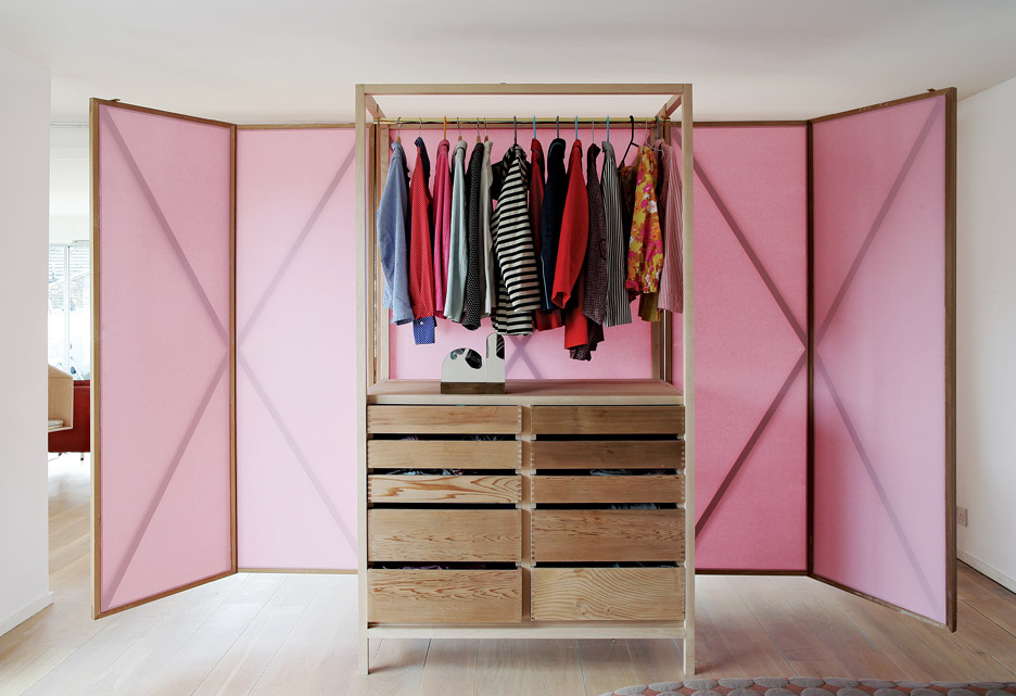 Studiomama\'s Metamorphic wardrobe turns into a room divider