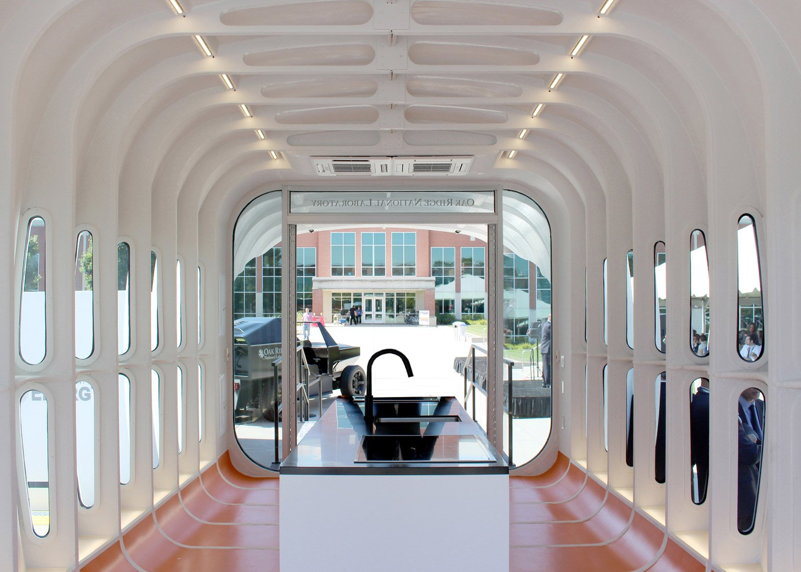 Pod home by som architects is world s largest 3d printed for Room grid
