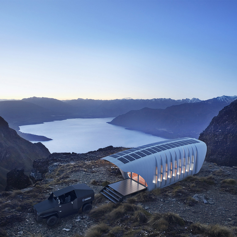 "SOM debuts ""world's largest 3D-printed polymer building"" designed for off-grid living"