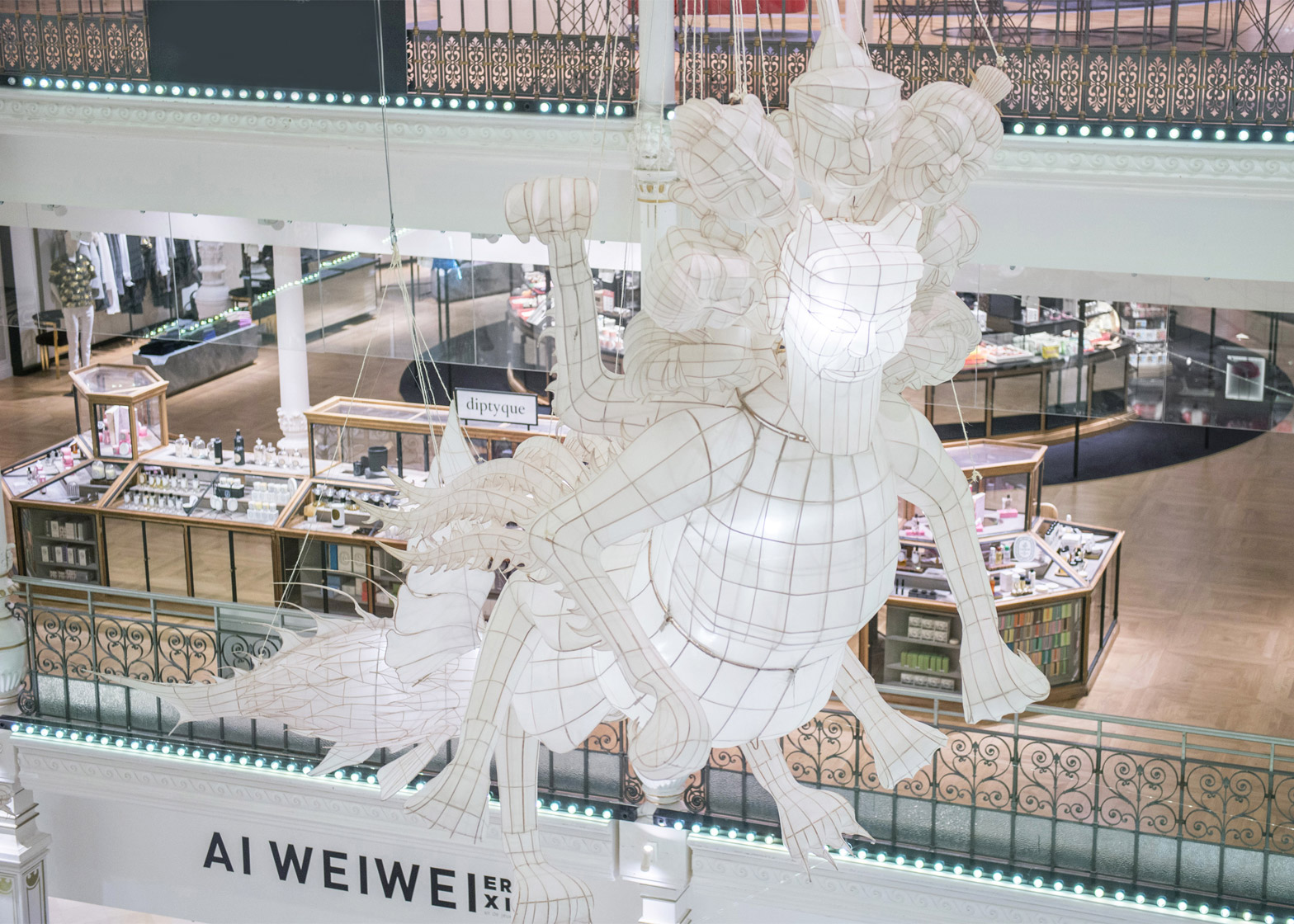 Ai Weiwei for Le Bon Marche exhibition