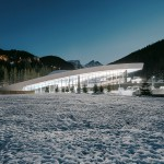 Auer Weber completes aquatic centre with a sloping roof in the French Alps