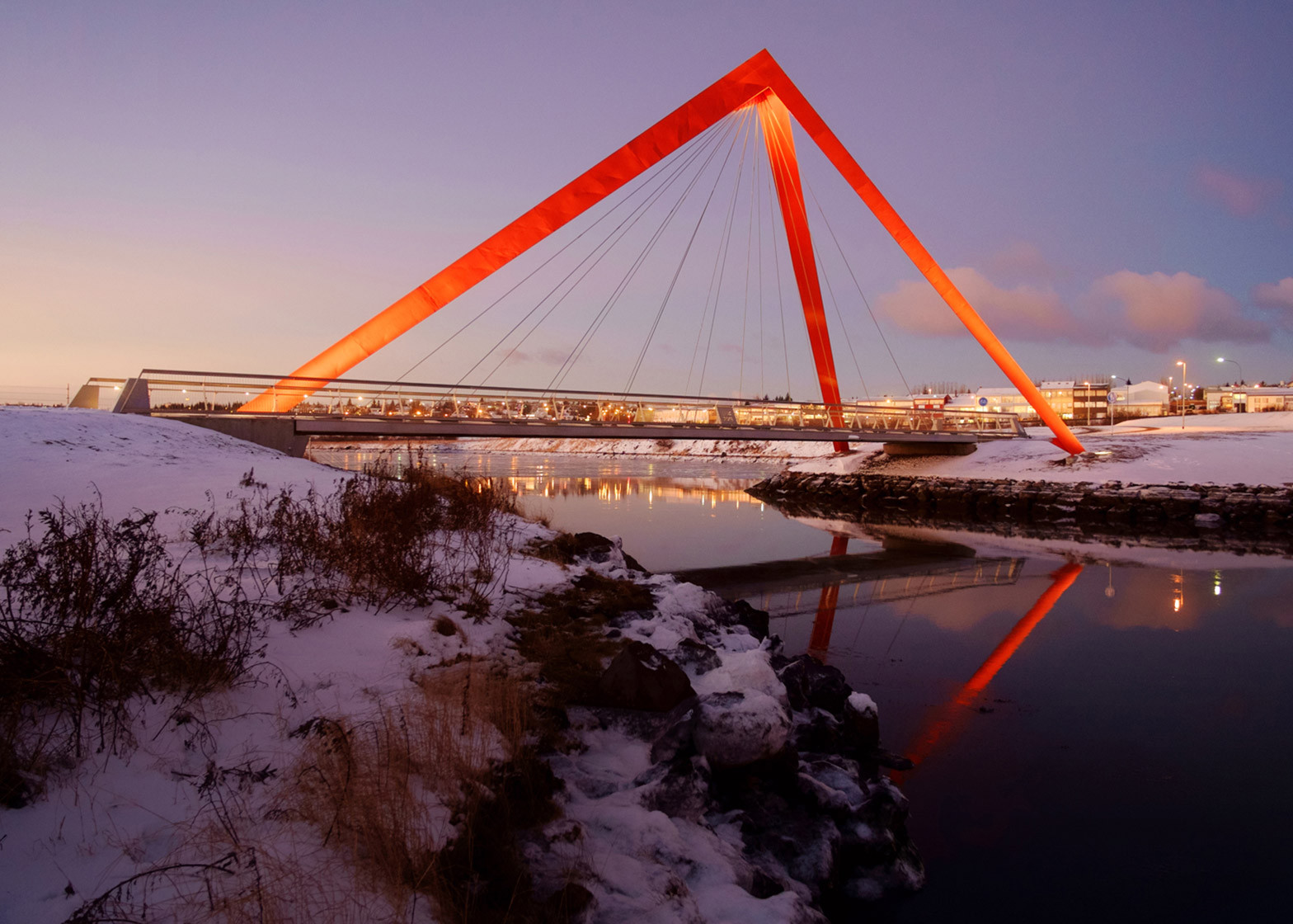 Bicycle and pedestrian bridges by Ragnhildur Kristjansdottir