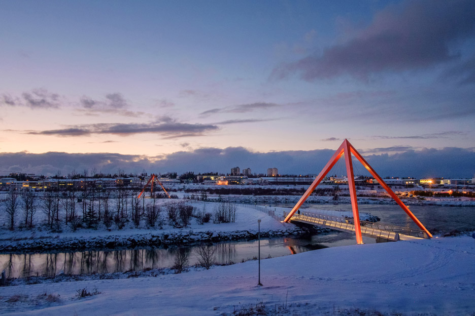 Bicycle and pedestrian bridges by Ragnhildur Kristjansdottir