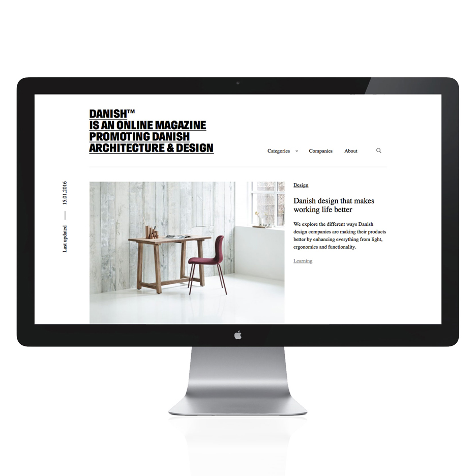 Danish tm is an online magazine for Danish architecture and design