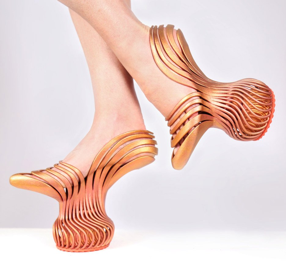 Neta Soreq's Energetic Pass shoes have bouncy 3D-printed soles