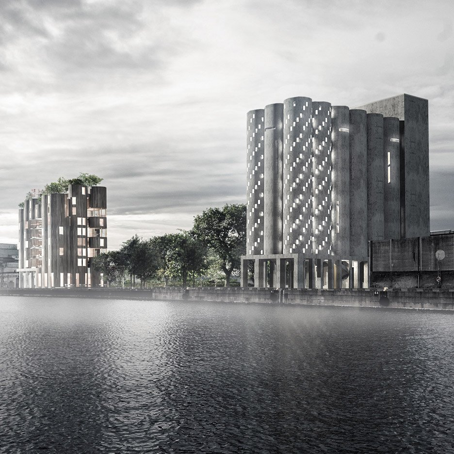 Lund University students envision Malmö silo transformed into a crematorium