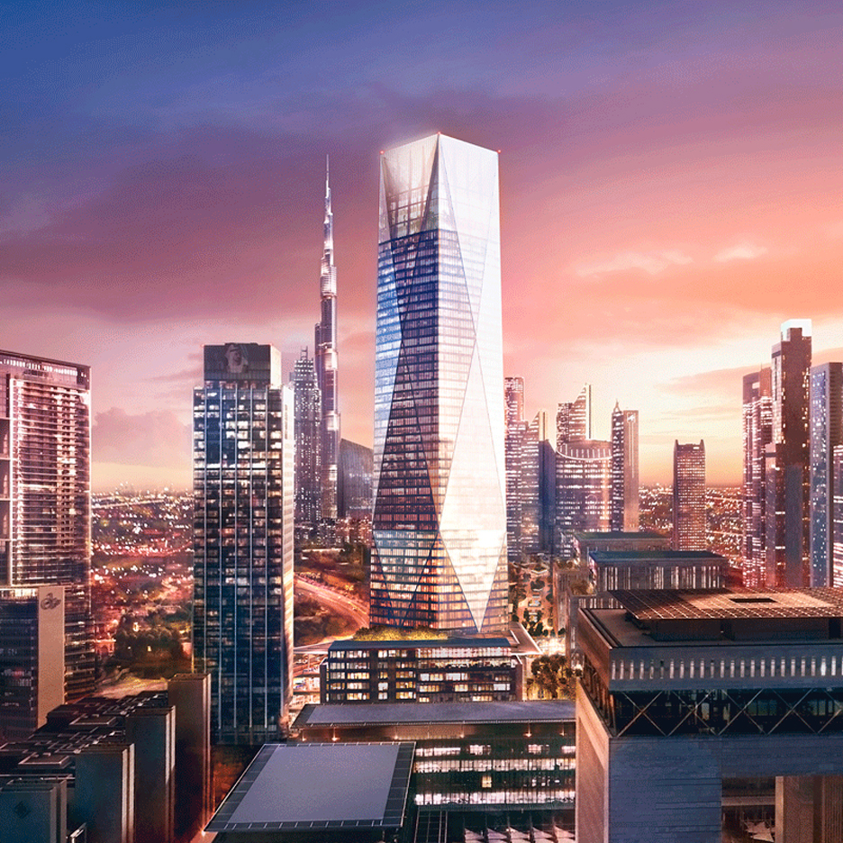 Foster + Partners unveils design for crystalline skyscraper now underway in Dubai