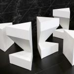 Tom Dixon presents angular Caesarstone kitchen referencing frozen lakes in Canada