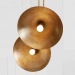Tango lighting collection by Paul Matter features satellite-shaped shades