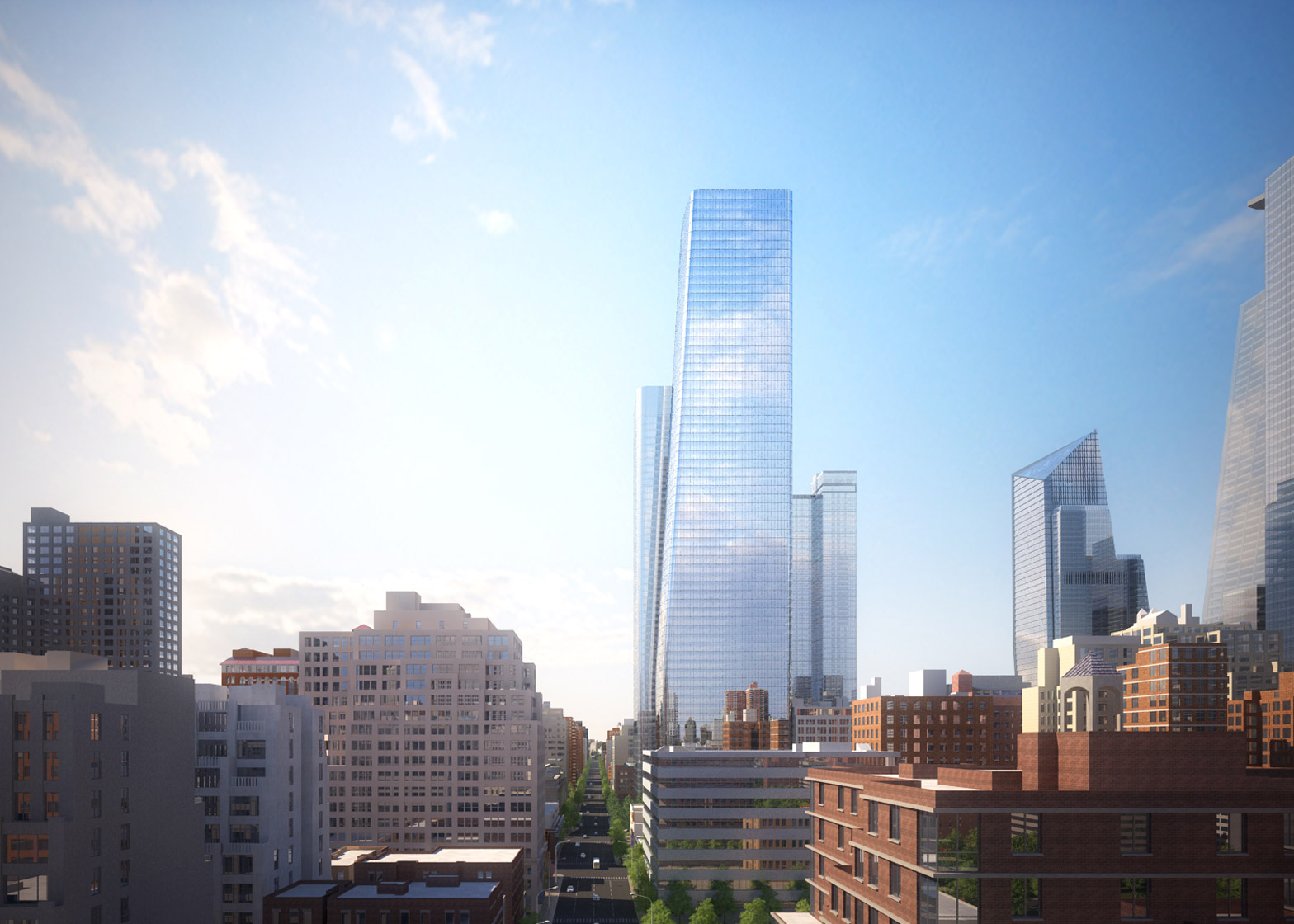 Manhattan West tower in New York by SOM