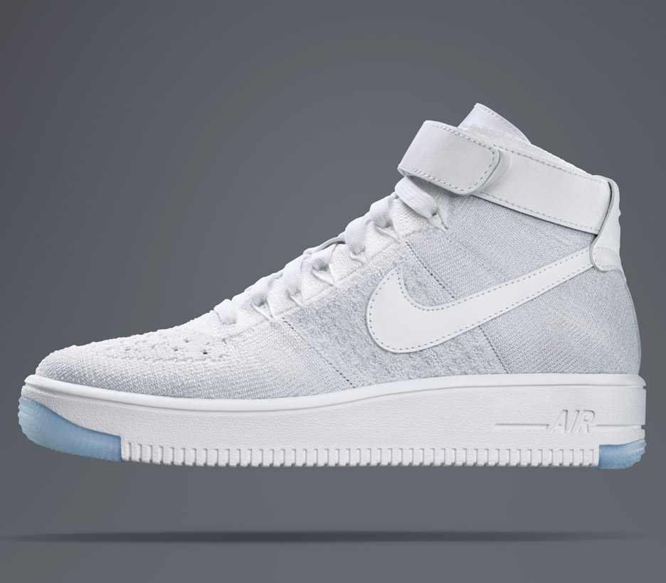 1c733c602b58 Nike Flyknit Air Force One. The most popular model is the high-top