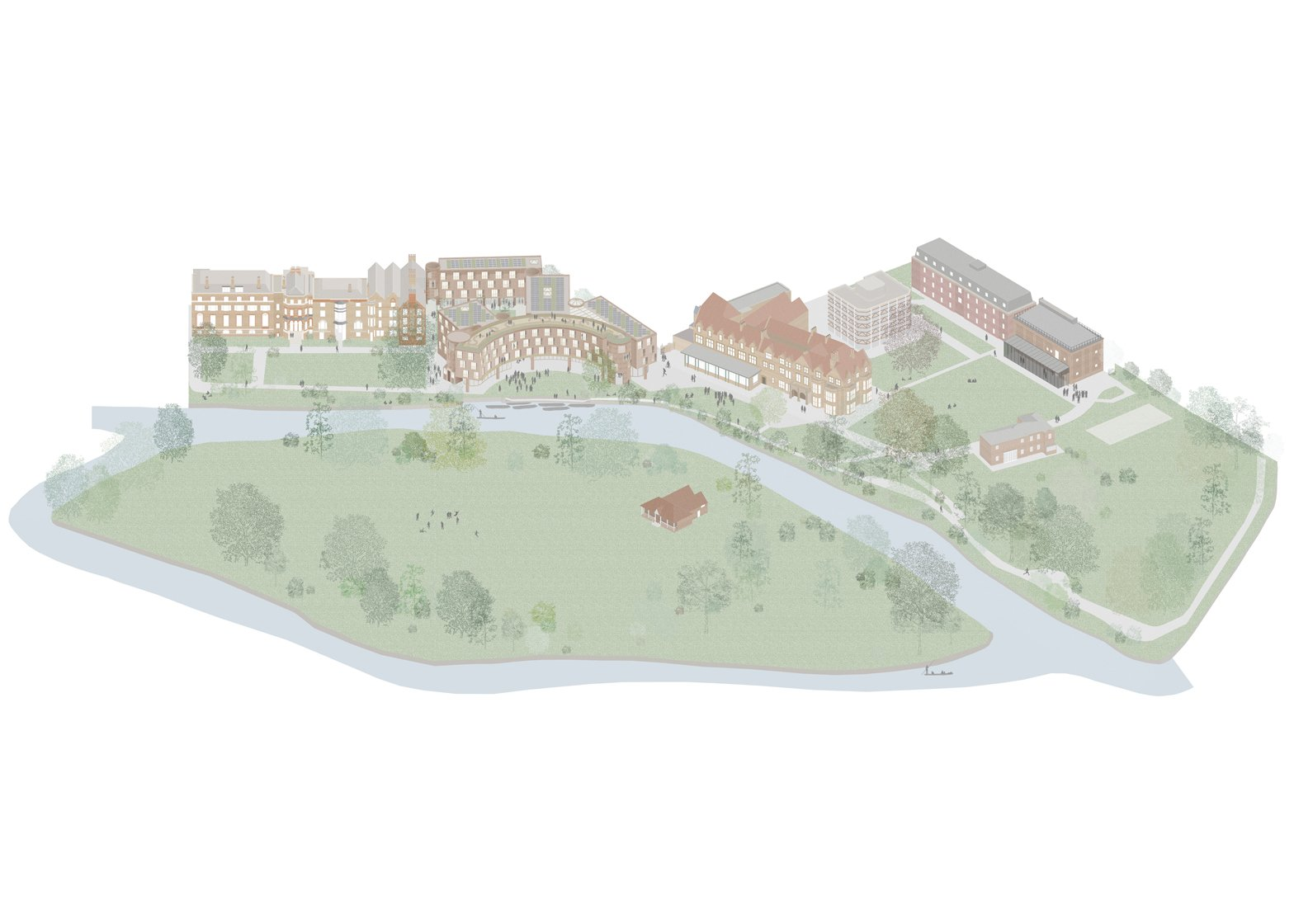 6a Architects' concept for an extension to St Hilda's College in Oxford