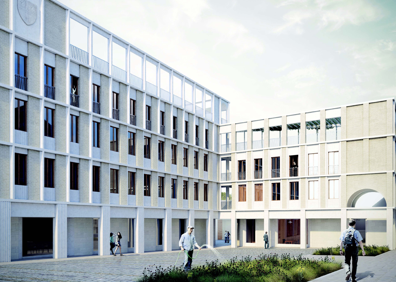 DRDH Architects' concept for an extension to St Hilda's College in Oxford
