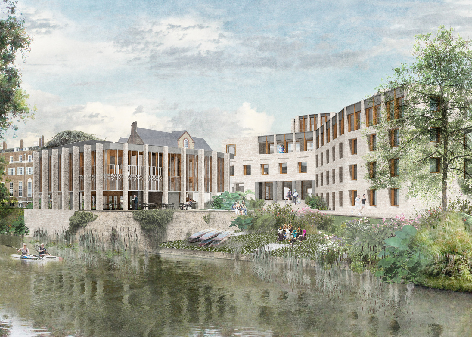 Gort Scott's concept for an extension to St Hilda's College in Oxford