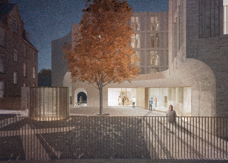 Hall McKnight's concept for an extension to St Hilda's College in Oxford