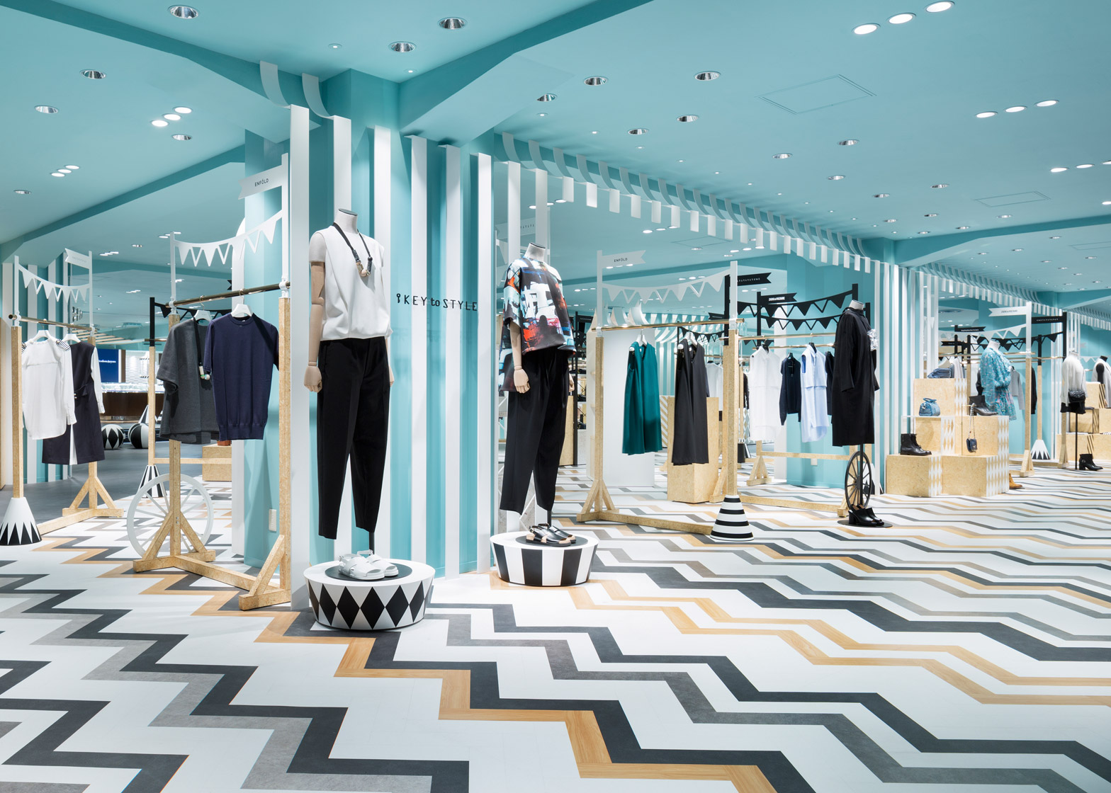 Nendo overhauls womenswear and hat departments at Seibu Shibuya department store in Japan