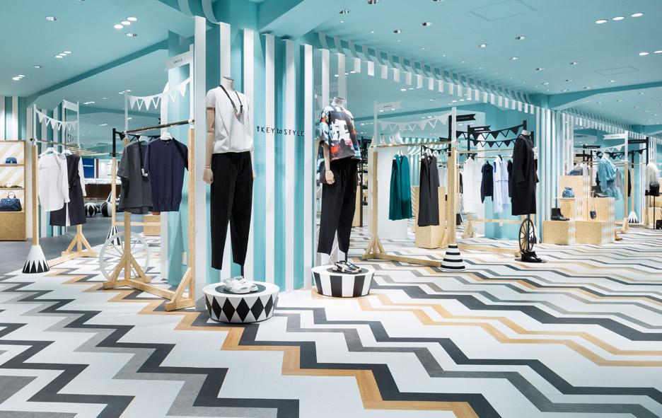 Nendo overhauls womenswear and hat departments at Seibu Shibuya department store in Japan