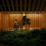 Salt completes Tokyo music showroom for Steinway & Sons based on piano components